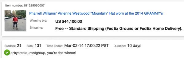 Pharrell x Arbys x The Vivienne WestWood hat